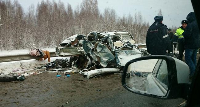Массовое ДТП под Краснокамском. Один человек умер, двое пострадали