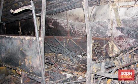 Ночью вПрикамье дотла сгорели боксы сгородскими автобусами
