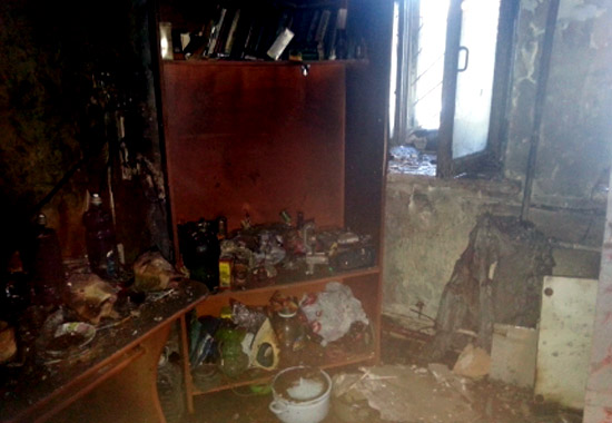 Пермяк вынес соседа изгорящей квартиры