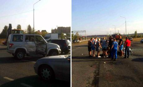 ВПермском районе при столкновении с«УАЗ» умер мотоциклист