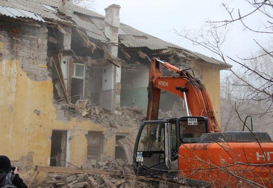 ВПерми стартовал масштабный снос домов