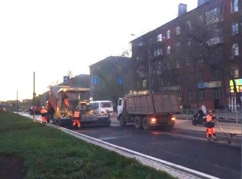 Набульваре Гагарина вПерми начался ремонт дороги