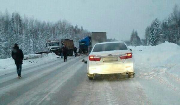 Три человека погибли втройном ДТП вПермском крае