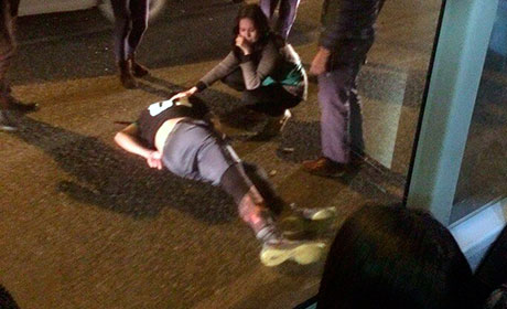 Вцентре Перми иностранная машина сбила на«зебре» 16-летнего подростка