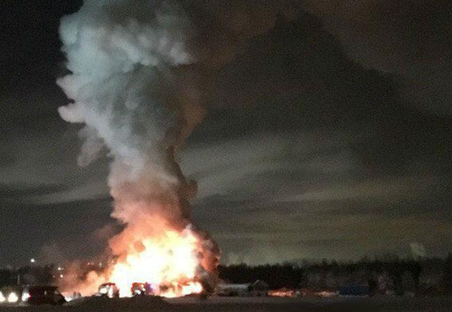 12 января в Камской долине в Перми произошел крупный пожар