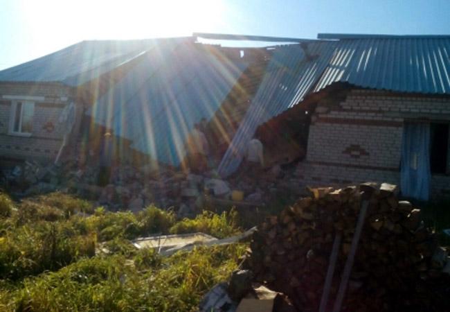 Взрыв газа вселе Плишкари Еловского района Прикамья унёс жизнь неустановленной женщины